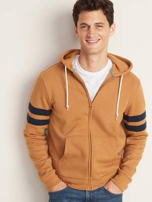 Old Navy Pieced Sleeve-Stripe Zip Hoodie for Men