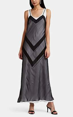 Maison Margiela Women's Chevron Layered Slipdress - Black