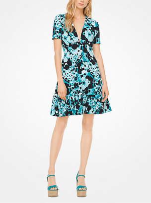 Michael Kors Floral Matte-Jersey Dress