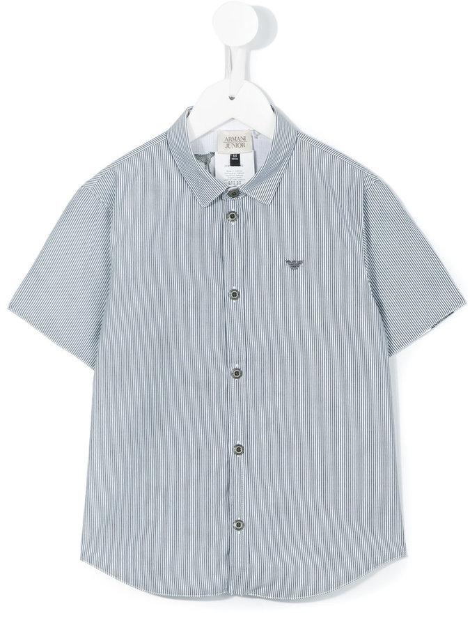 Armani JuniorArmani Junior striped shortsleeved shirt