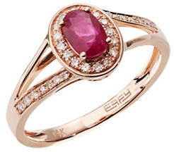 Effy 14k Rose Gold Ruby Ring