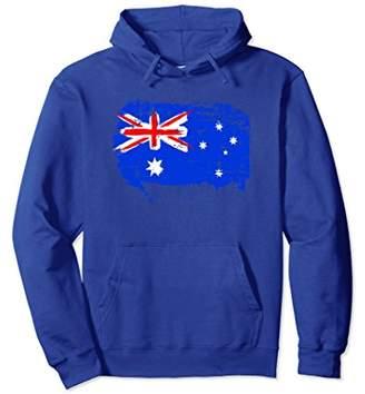 Australia Flag Hoodie Distressed Vintage Style
