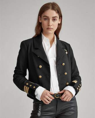 Ralph Lauren Cotton-Blend Military Blazer
