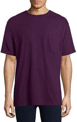 STAFFORD Stafford Performance Heavyweight Crew Pocket Tee w/Wicking - Big & Tall