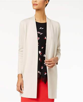 Alfani Birdseye Open-Front Cardigan, Created for Macy's