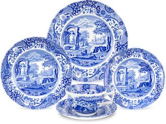 Spode Blue Italian 5-Piece Dinnerware Set