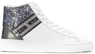 Hogan glitter hi-top sneakers