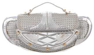 Fendi Metallic Python Vanity Shoulder Bag