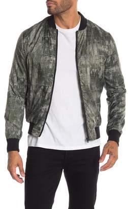 DAVID NAMAN Sport Linen Bomber Jacket