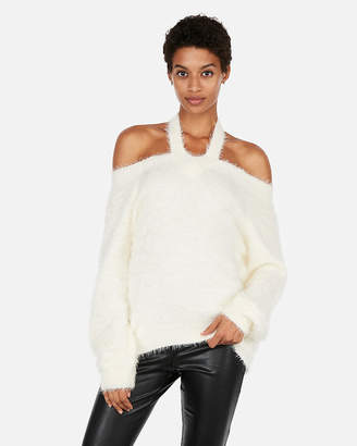 Express Petite Feather Soft Cut-Out Sweater
