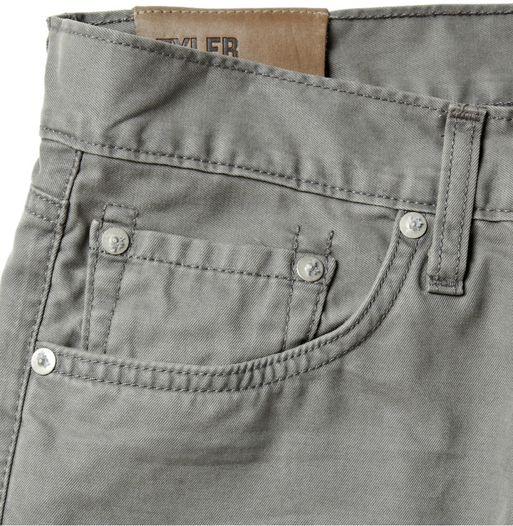 J Brand Tyler Slim-Fit Brushed Cotton-Twill Jeans
