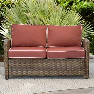 Birch Lane Lawson Wicker Loveseat with Cushions