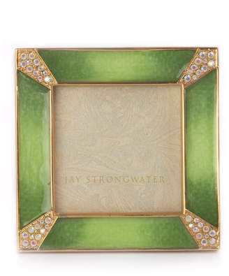"Jay Strongwater Leland Square Picture Frame, 2""Sq."