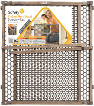 Safety 1st Vintage Grey Wood Doorway Gate