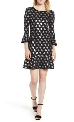 MICHAEL Michael Kors Foiled Paisley Flounce Dress