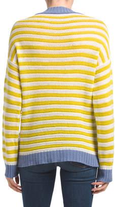 Piazza Sempione Made In Italy Striped Cashmere Sweater