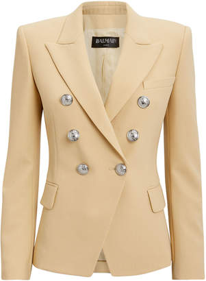 Balmain Sable Classic Double-Breasted Blazer