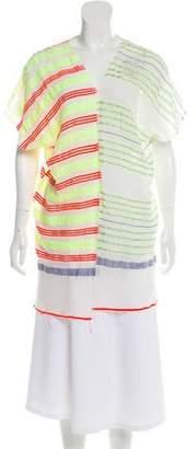 Lemlem Fringed Striped Poncho