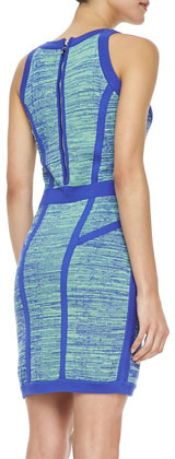 Milly Formfitting Space-Dye Dress