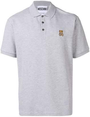 Moschino Teddy patch polo shirt