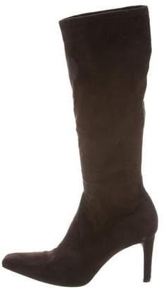 Donald J Pliner Suede Square-Toe Boots