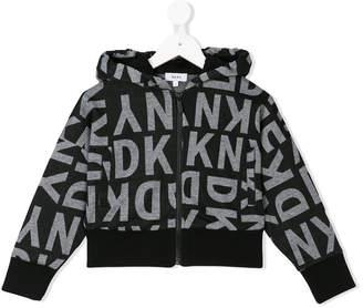 DKNY logo zip hoodie