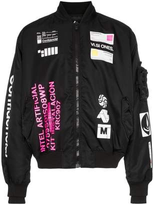 Marcelo Burlon County of Milan logo print rear graphic bomber jacket