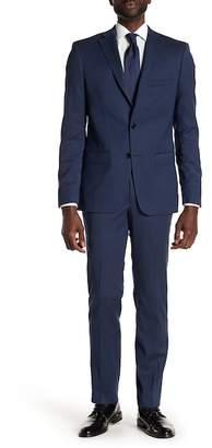 "John Varvatos Collection Graham Wool Blend Flat Front Pants - 30-34\"" Inseam"