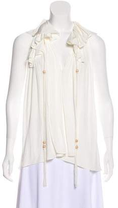 Lanvin Sleeveless Plissé Blouse w/ Tags