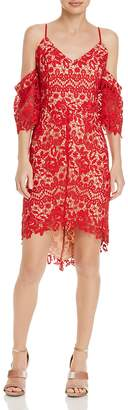 Adelyn Rae Krista High/Low Lace Dress