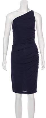 Jay Godfrey Ruched One-Shoulder Dress