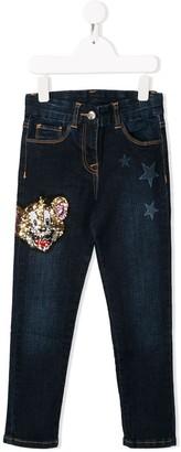 MonnaLisa embellished Jerry jeans