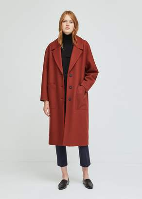 Harris Wharf London Pressed Wool Oversized Patch Pocket Coat