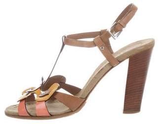 Prada Butterfly T-Strap Sandals