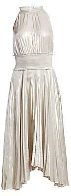 A.L.C. Women's Weston Metallic Pleated Midi Dress - Size 0