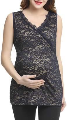Kimi and Kai Grace Wrap Lace Maternity Top