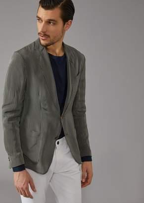 Giorgio Armani Striped Canvas Upton Jacket