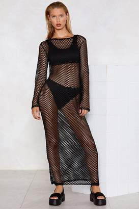 Nasty Gal Net My Drift Fishnet Dress
