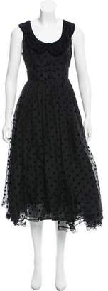 Marc Jacobs Sleeveless A-Line Midi Dress