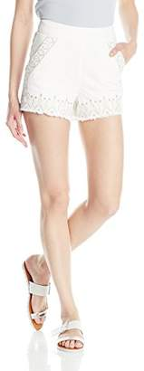 Blank NYC [BLANKNYC] Women's Embroidered High Rise Short in