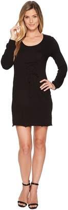 Lanston Corset Long Sleeve Mini Dress Women's Dress