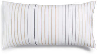 """Charter Club Cotton Stripe 12"""" x 24"""" Decorative Pillow, Created for Macy's"""
