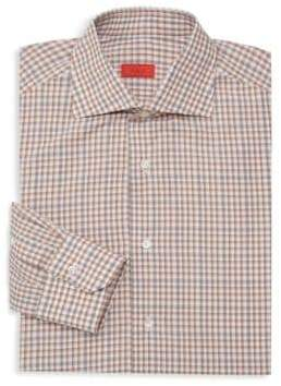 Isaia Classic Checked Dress Shirt