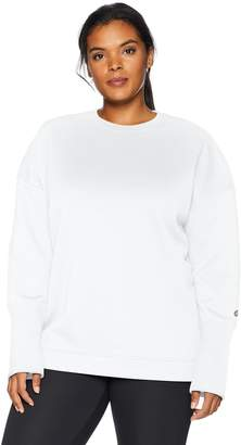 be2de9dc811c9 Core 10 Women s Plus Size Motion Tech Fleece Relaxed Fit Long Sleeve Crew  Sweatshirt