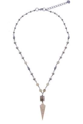 Nakamol Design Labradorite & Pave Crystal Short Necklace