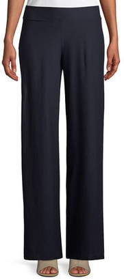 Eileen Fisher Washable Stretch Crepe Modern Straight-Leg Pants, Plus Size
