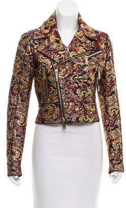 DSQUARED2 Brocade Moto Jacket w/ Tags