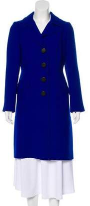 Milly Notch-Lapel Button-Up Coat