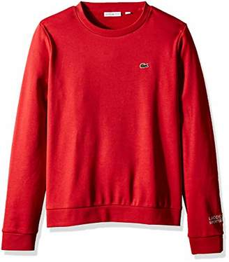 Lacoste Women's Sport Long Sleeve Fleece Crewneck Sweatshirt