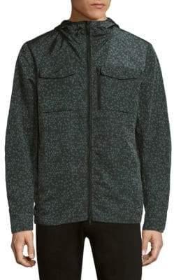 J. Lindeberg Jonah Hood Nickel-Print Jacket